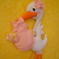 Cicogna con bebè