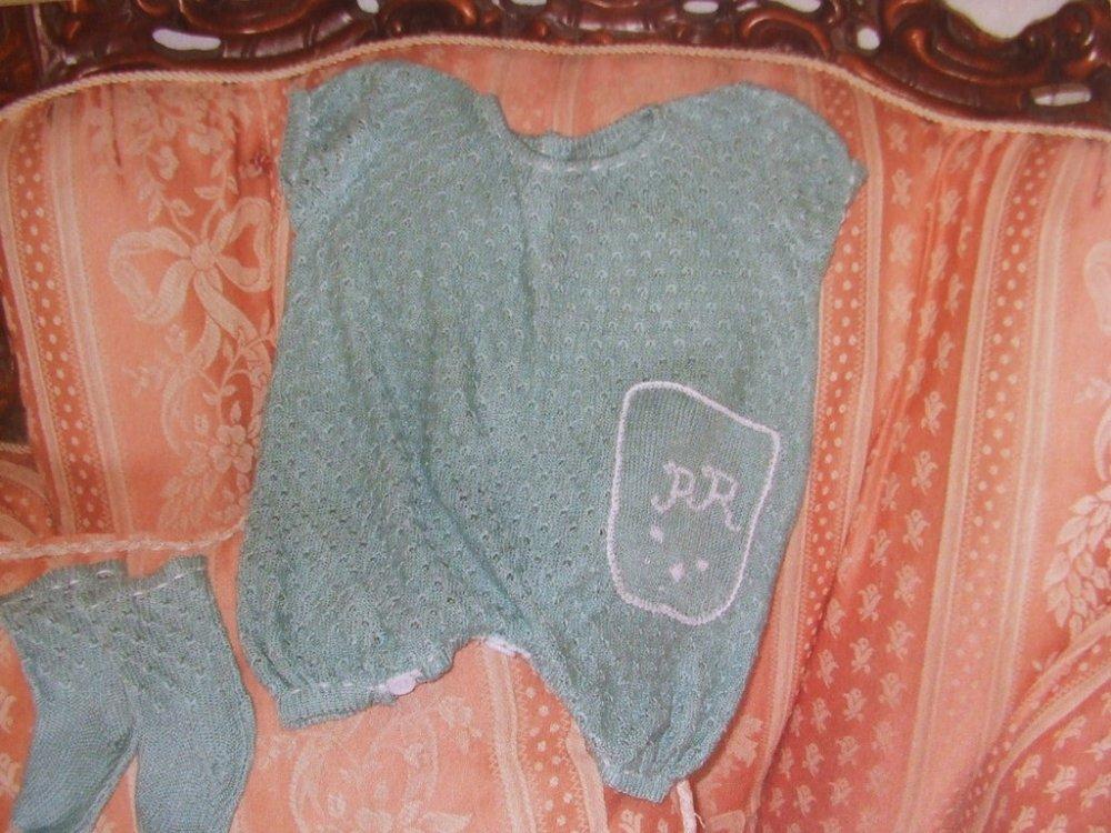 pagliaccetto tutina bimbi cotone maglia