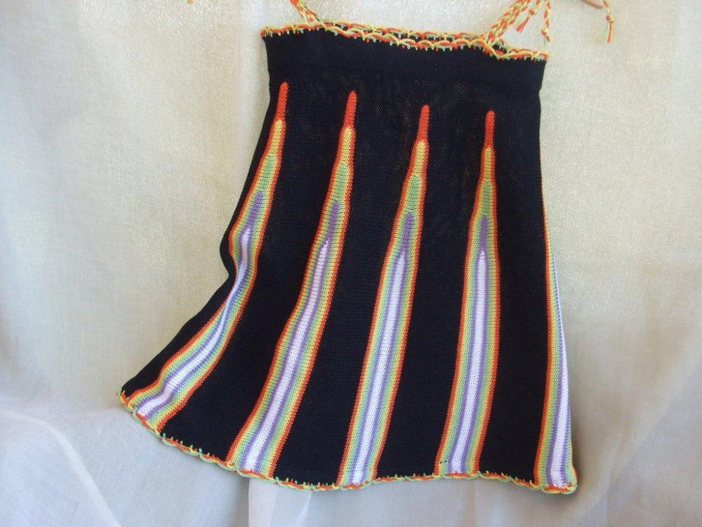 vestito bimba cotone maglia colorato