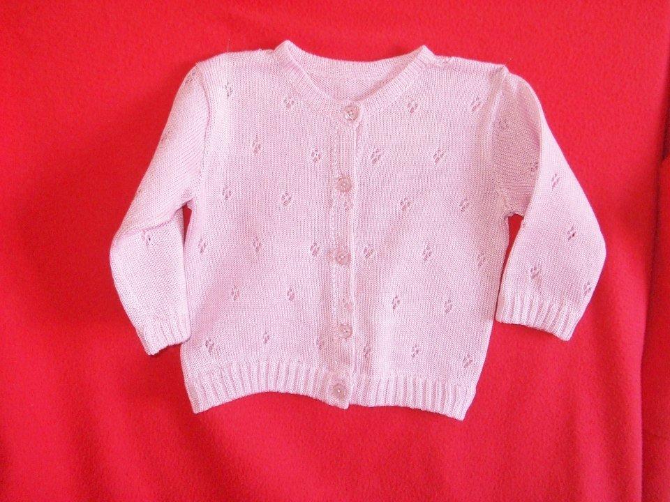 cardigan golfino bimba cotone maglia rosa