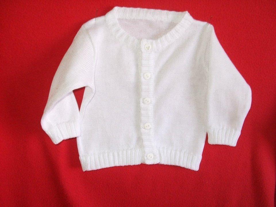 cardigan golfino maglia cotone bianco