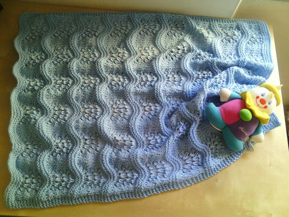 coperta per neonato fatta a mano