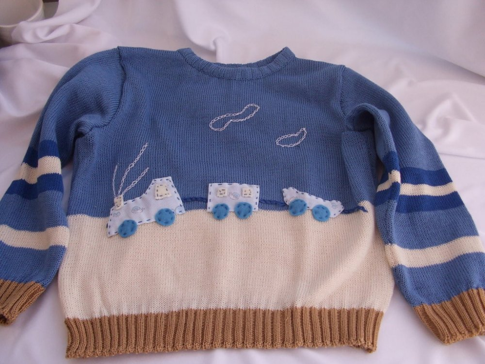 golfino cotone o lana bimbo bianco celeste
