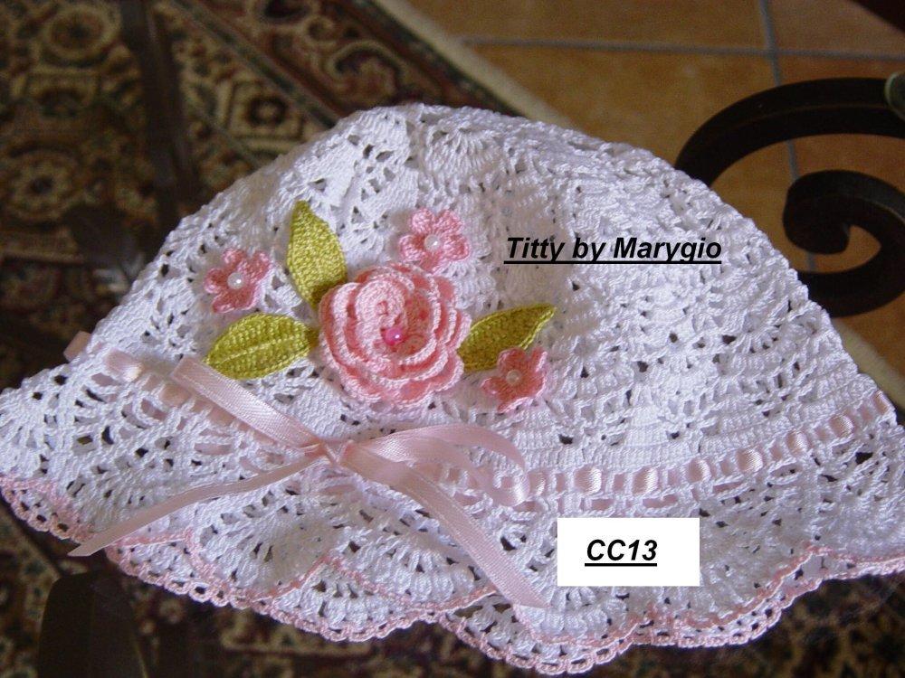 Cappellino in cotone uncinetto