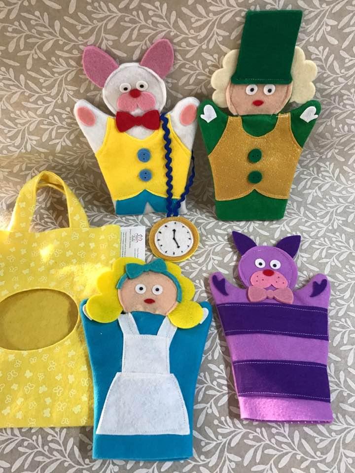 Set marionette delle fiabe: Alice nel paese delle meraviglie