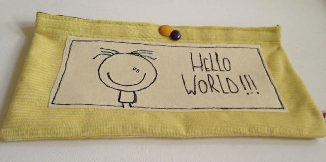 Astuccio multiuso porta pannolini Welcome to the world