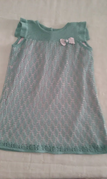 vestito maglia abito cotone bimba