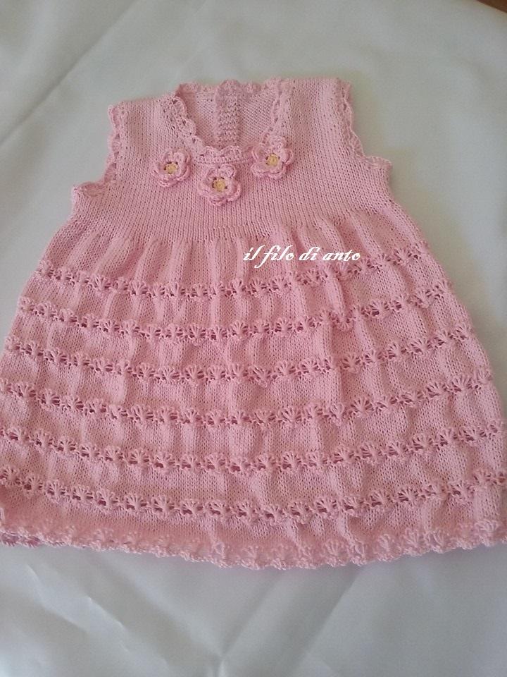 Abitino /vestitino/ bambina in cotone rosa