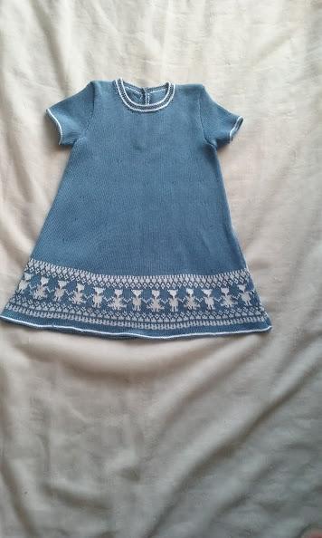 abito vestito maglia cotone bimba