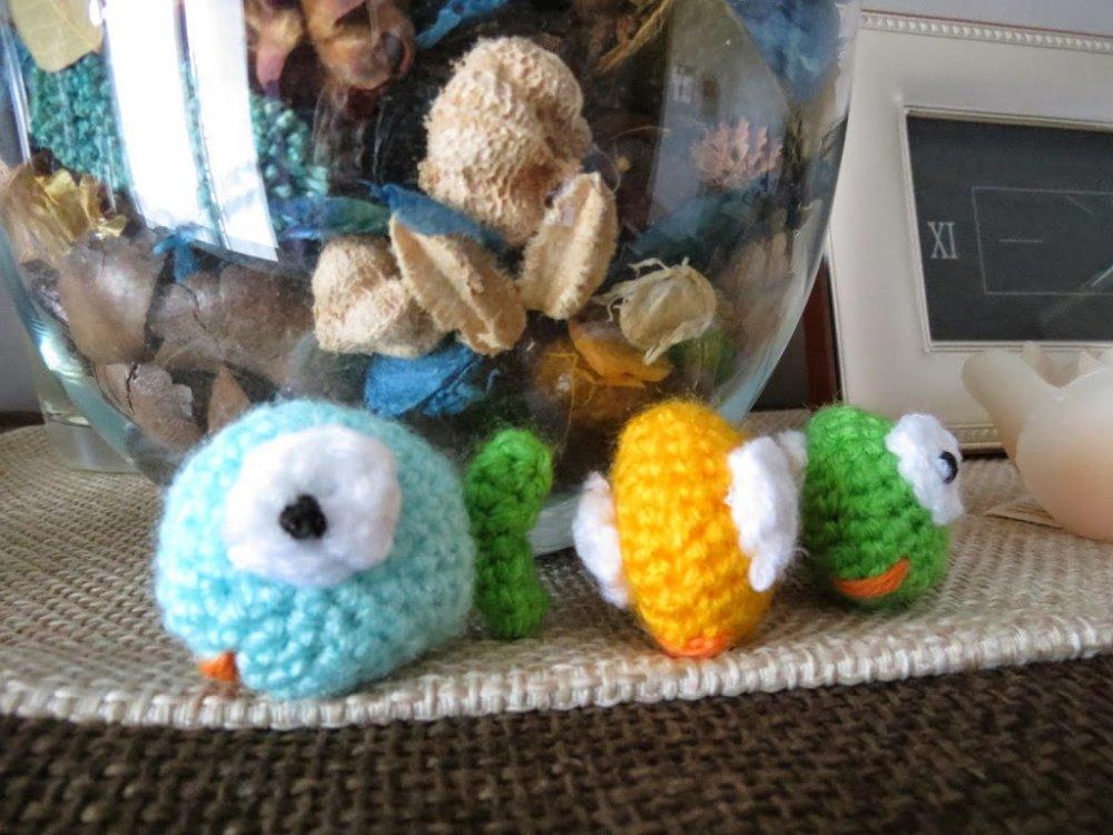 pesciolini di lana colorata