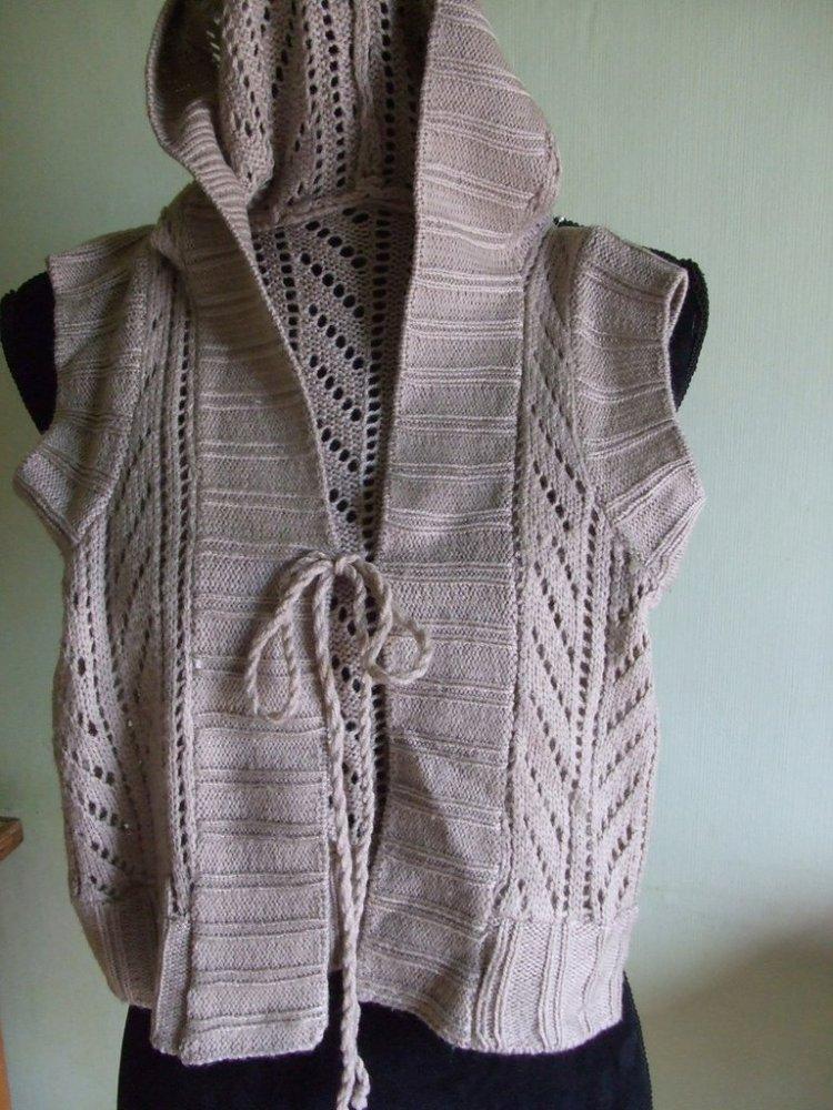 smanicato gilet cardigan bimba lana maglia