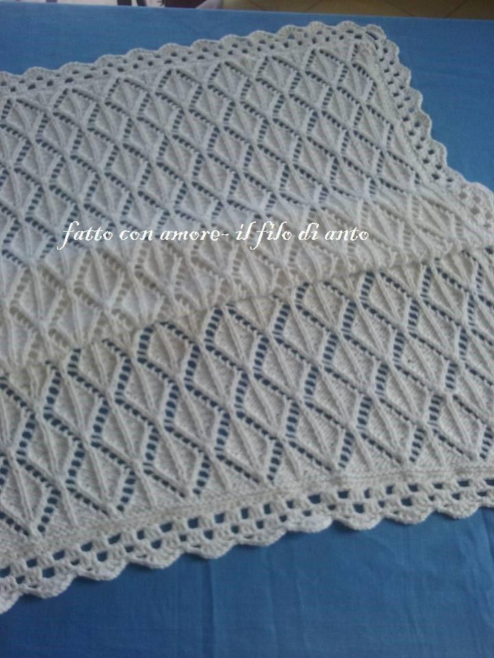 Copertina per culla in puro cotone bianco