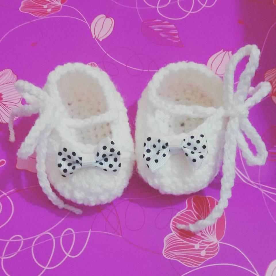 Scarpette scarpine neonato uncinetto