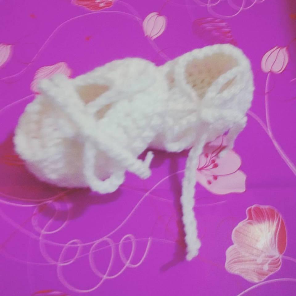 Scarpette scarpine neonato uncinetto crochet