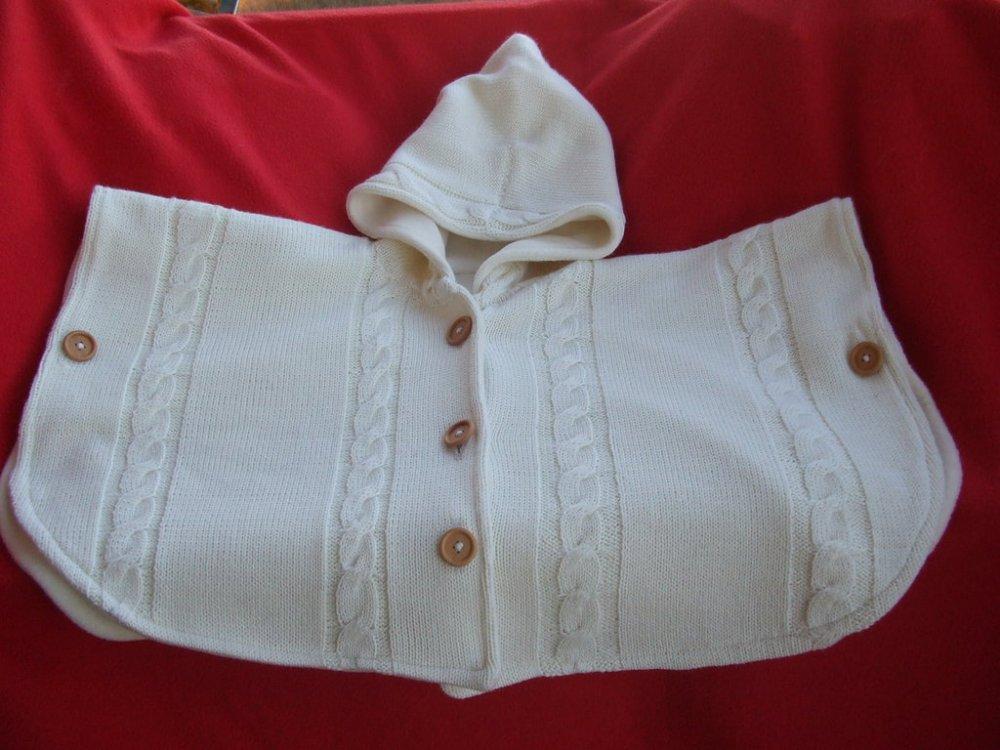mantella poncio cappotto lana maglia bimba