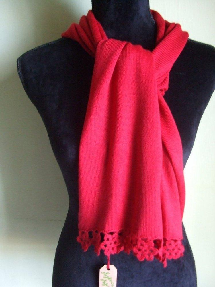 sciarpa scalda collo scialle bimba lana maglia