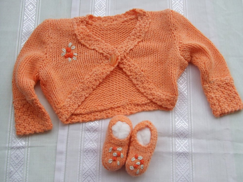 giacca+ scarpine coprifasce bimba maglia
