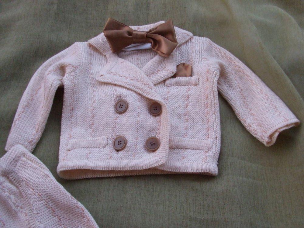 vestito abito doppio petto bimbo maglia cotone