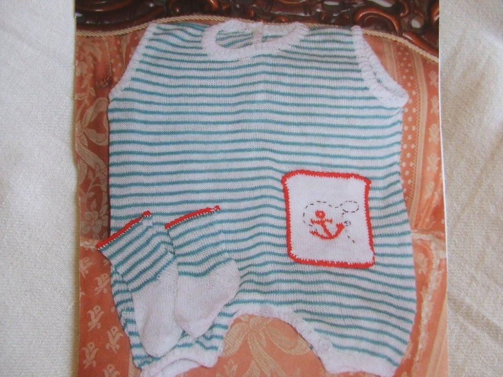 pagliaccetto bimbo completino cotone maglia