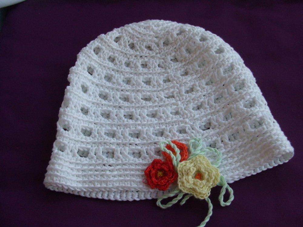 cappello cotone uncinetto bimba