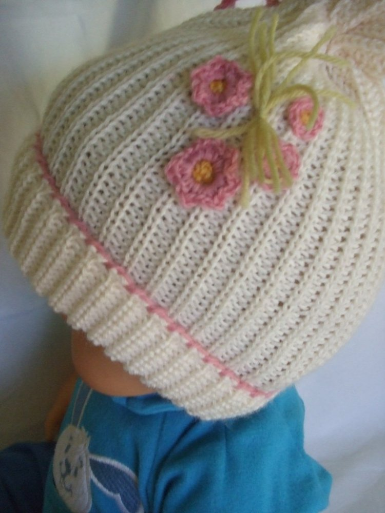 cappello bimba lana maglia