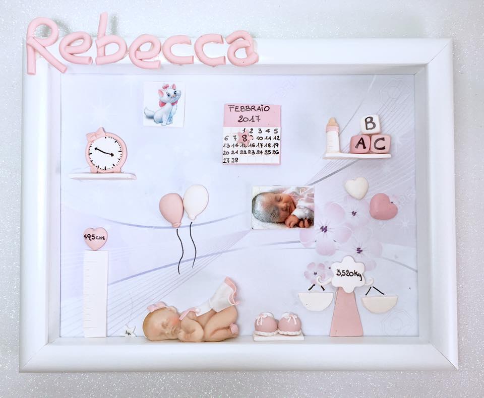 Quadretto nascita - memory frame