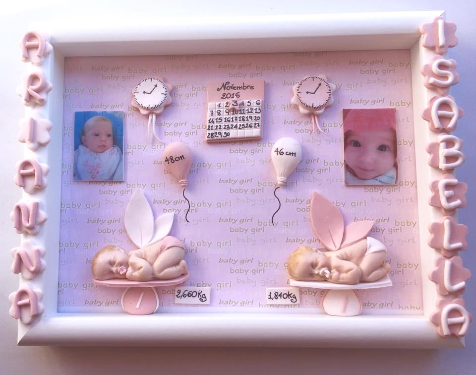 Quadretto nascita - memory frame - per gemelli o gemelle