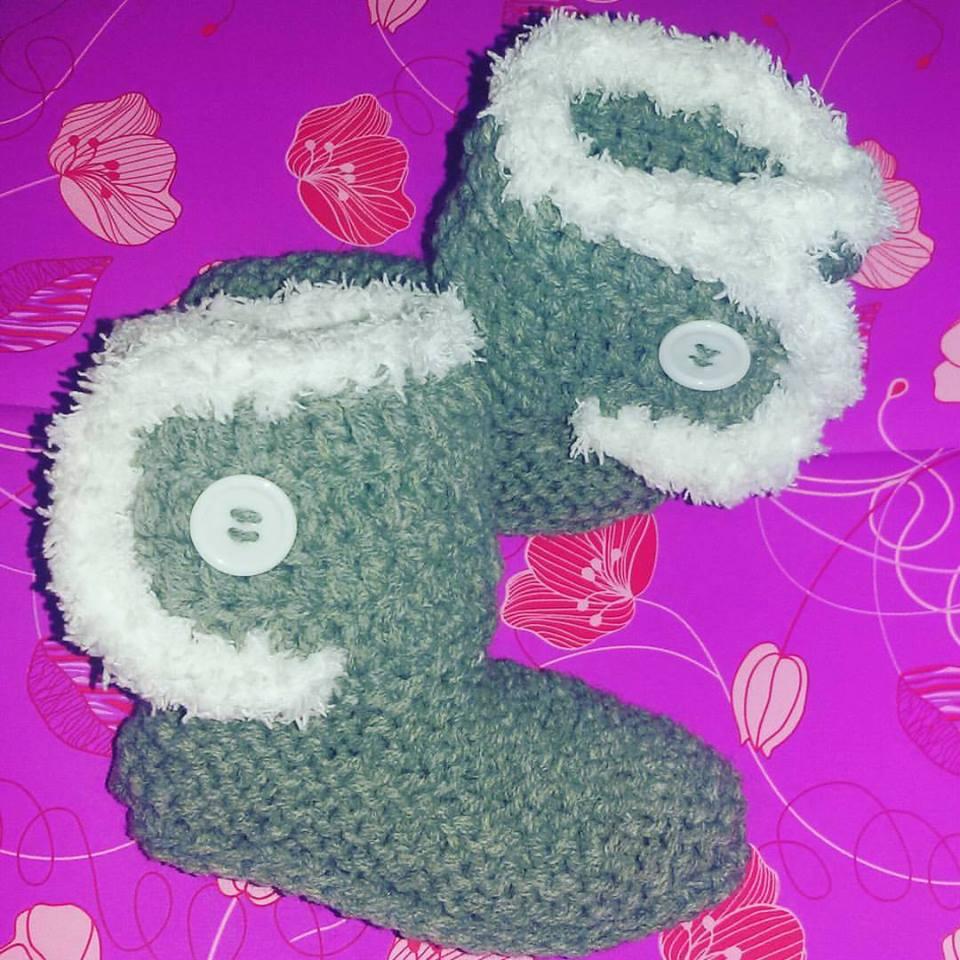 Scarpette scarpine neonato uncinetto Ugg regalo NATALE