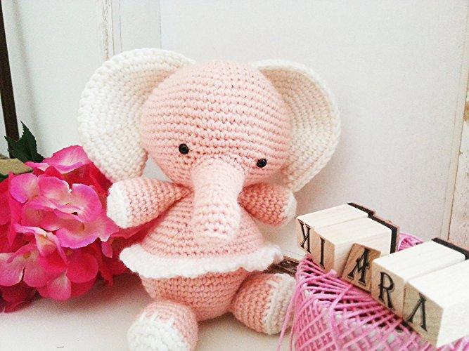 Ely_ elefane amigurumi all'uncinetto per bambini e neonati