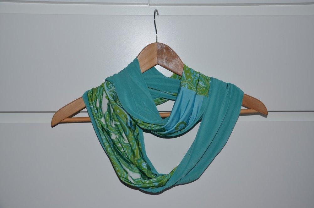 sciarpa ad anello verde