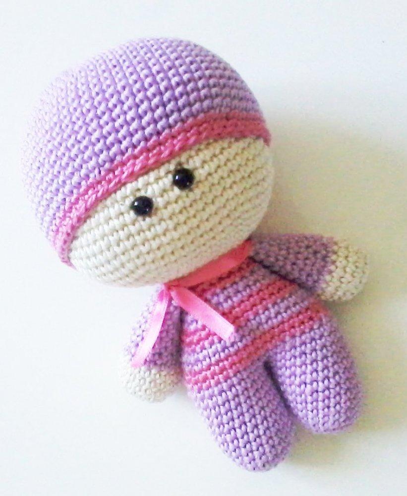 Maia Bambola Alluncinetto Amigurumi Per Bambini E Neonati