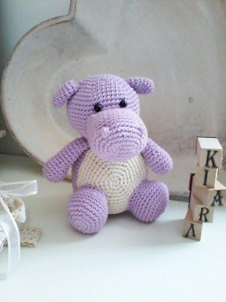 Lulli _ ippopotamo amigurumi all'uncinetto per bambini e neonati