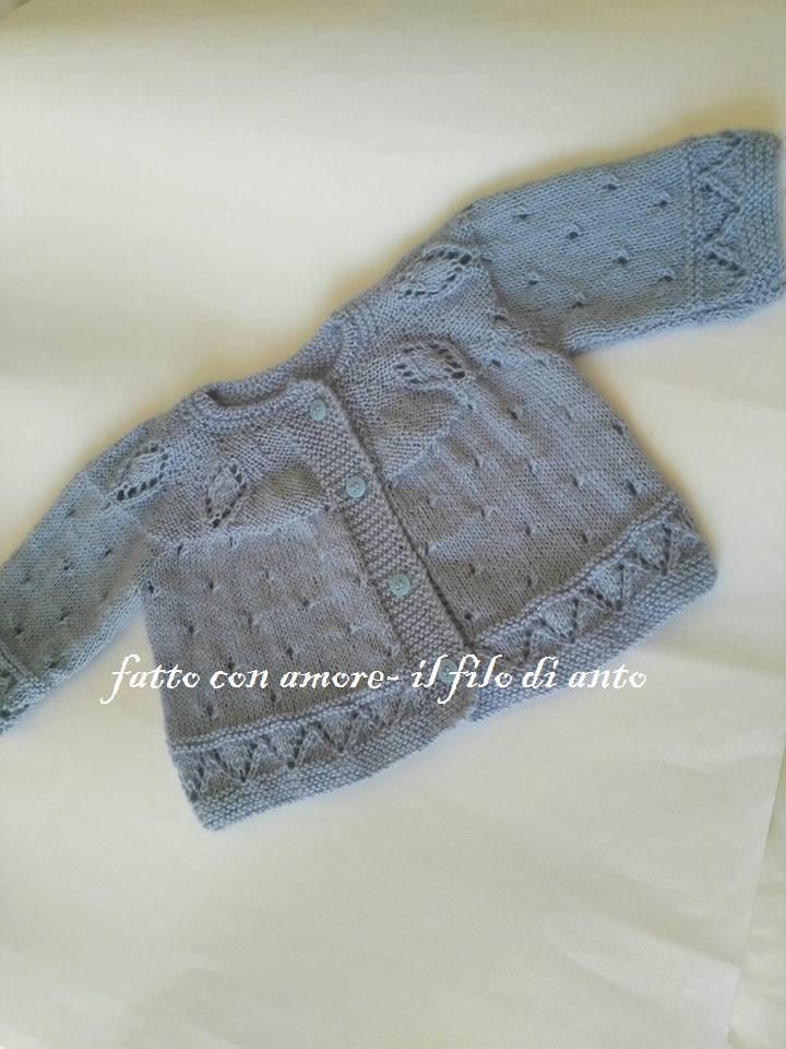 Maglia coprifasce bambino in pura lana