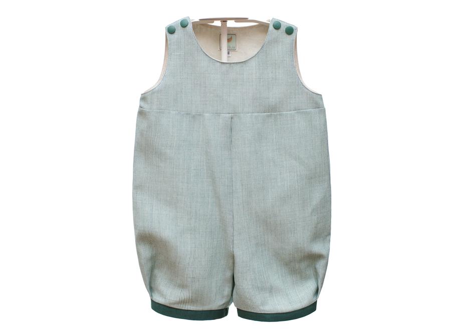 Salopette Pagliaccetto Baby Bebè Lino - PROVENCE verde