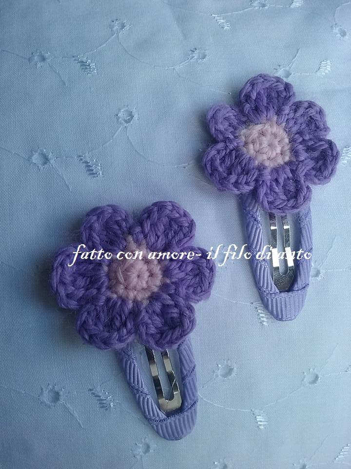 Molletta fermacapelli con fiore