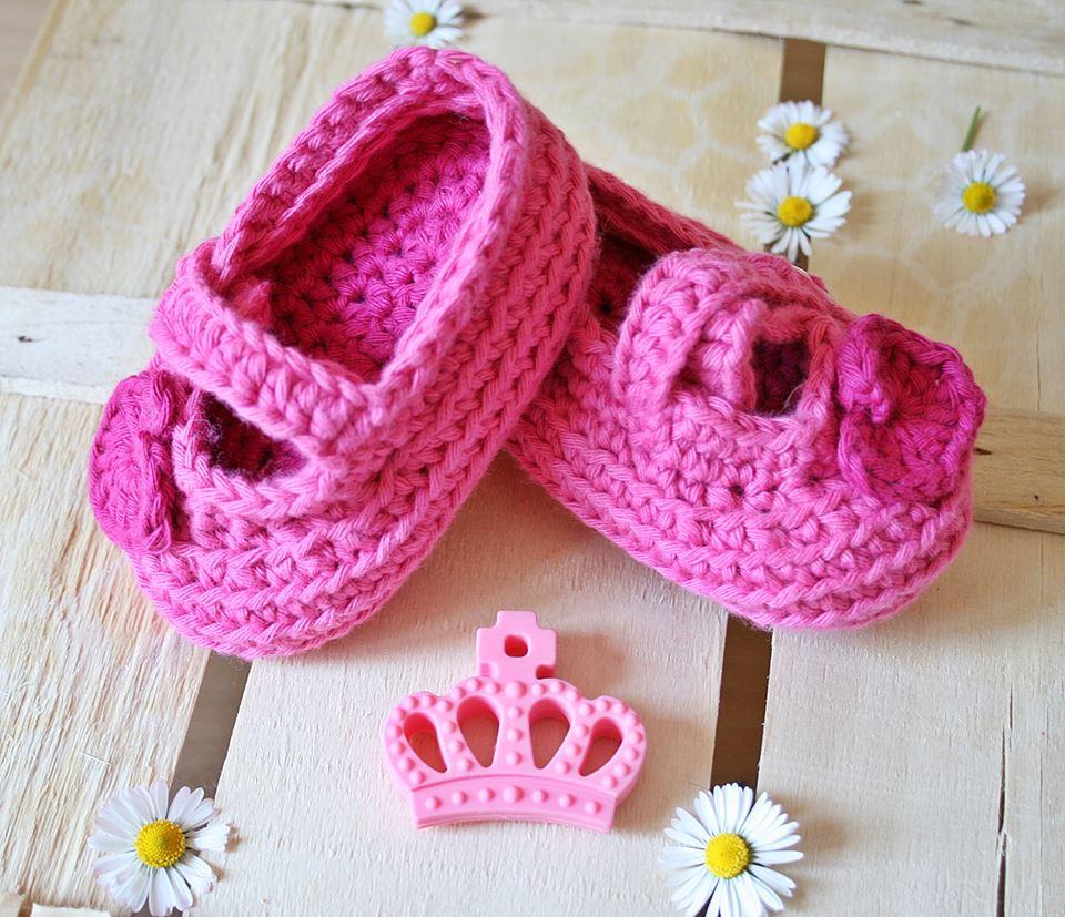 Ballerine uncinetto scarpine per neonate e bimbe Modello Charlotte