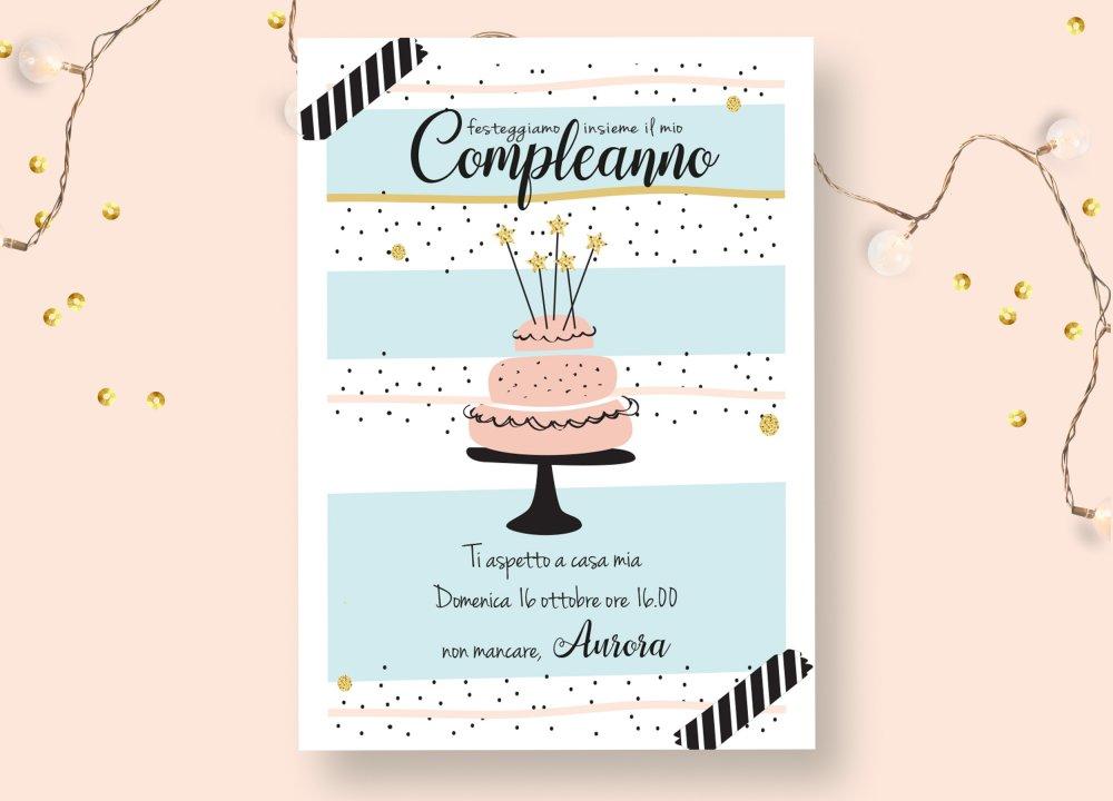 Invito Compleanno per stampa e invio whatsapp