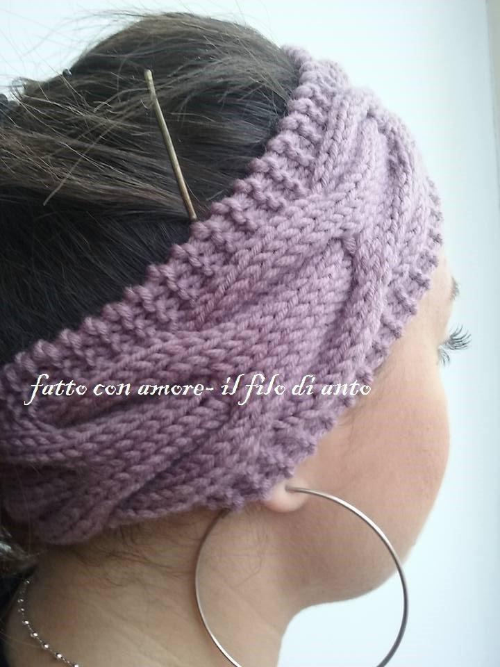Fascia  donna per capelli in pura lana merinos