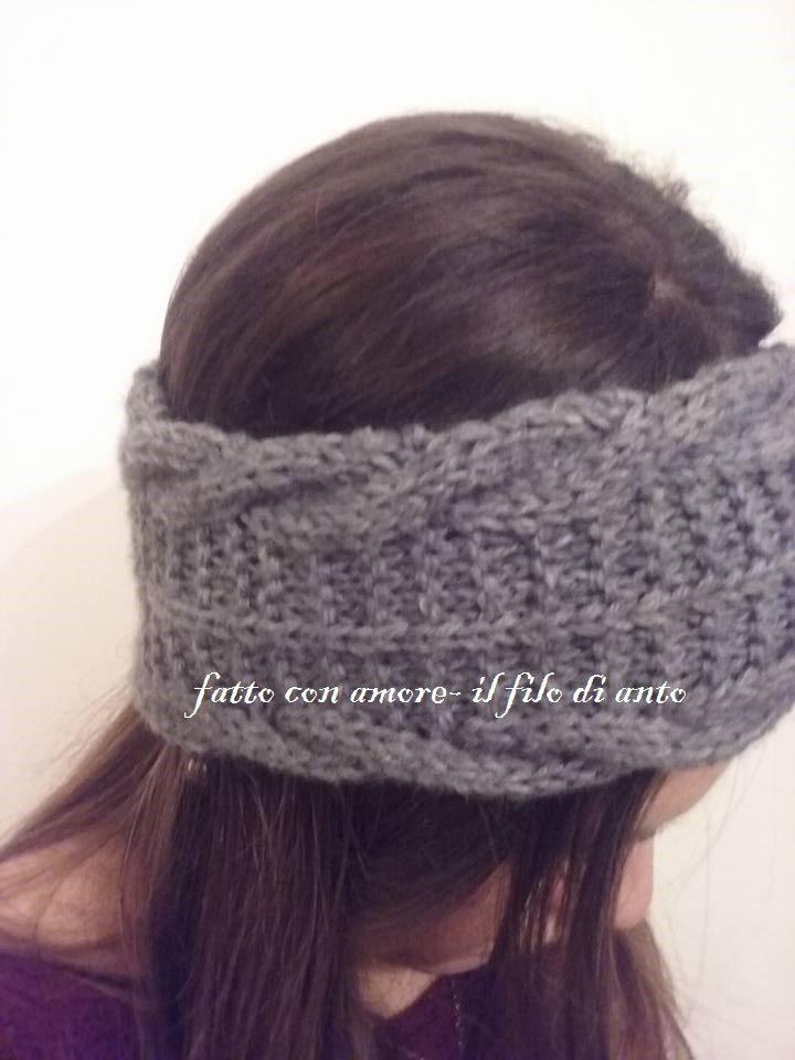 Fascia  donna per capelli in lana