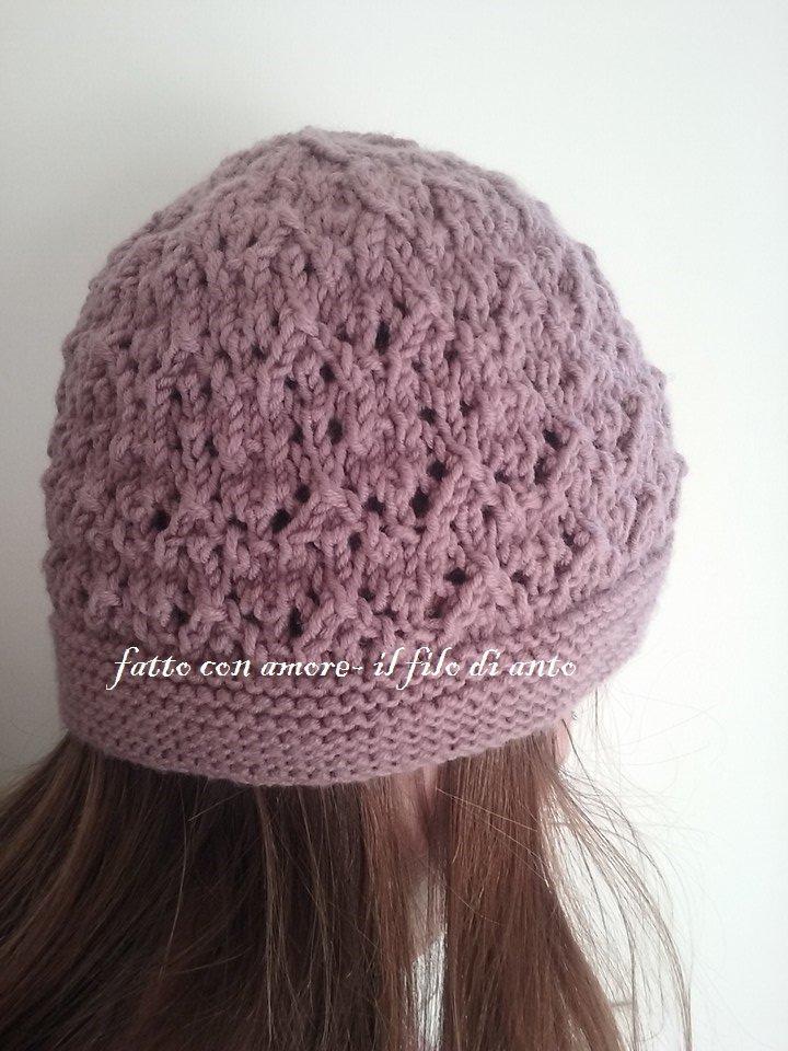 Cappello donna in lana merinos