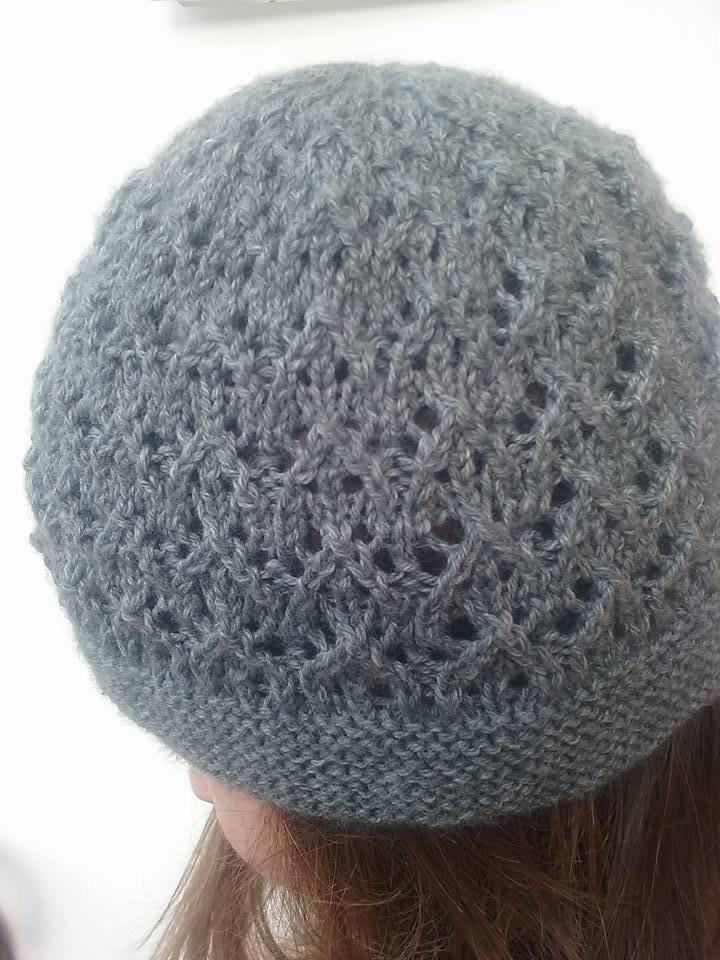 Cappello donna in lana merinos grigia