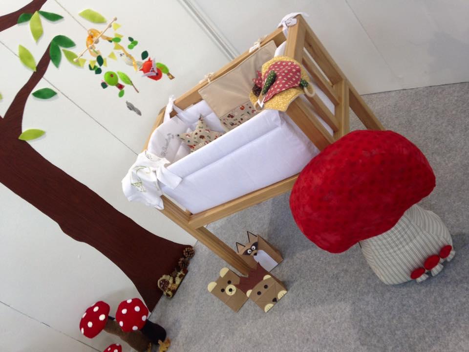 Culla-panchina in legno artigianale