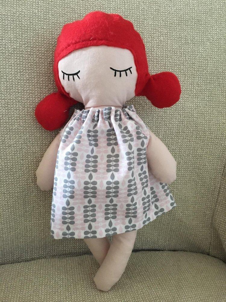 Anna dai capelli rossi - bambola di pezza