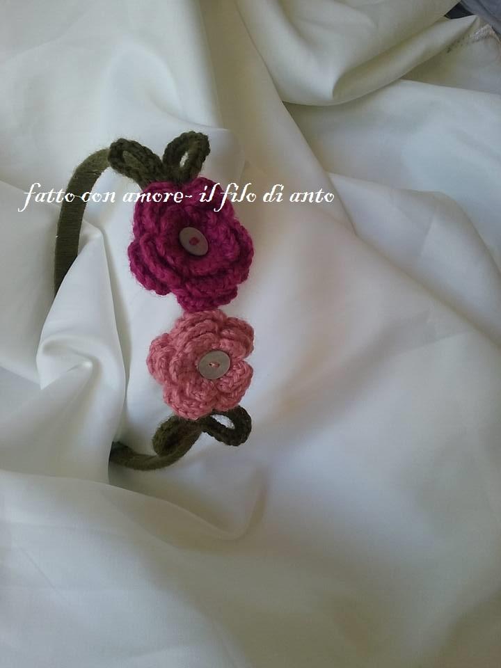 Cerchietto bambina con fiori