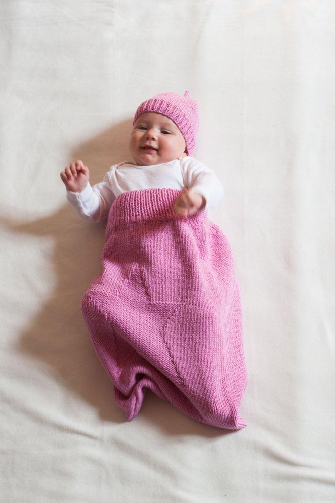 sacco nanna neonata pura lana merino rosa