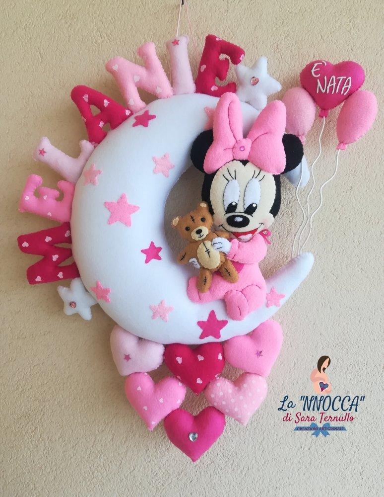 Fiocco nascita baby Minnie