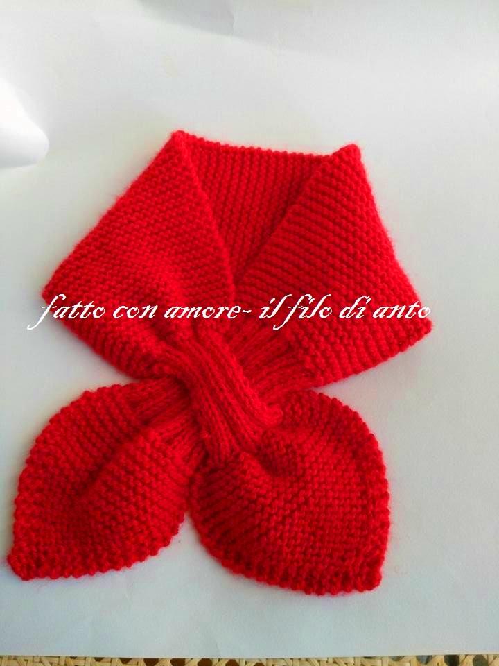 Sciarpa scalda collo in pura lana rossa