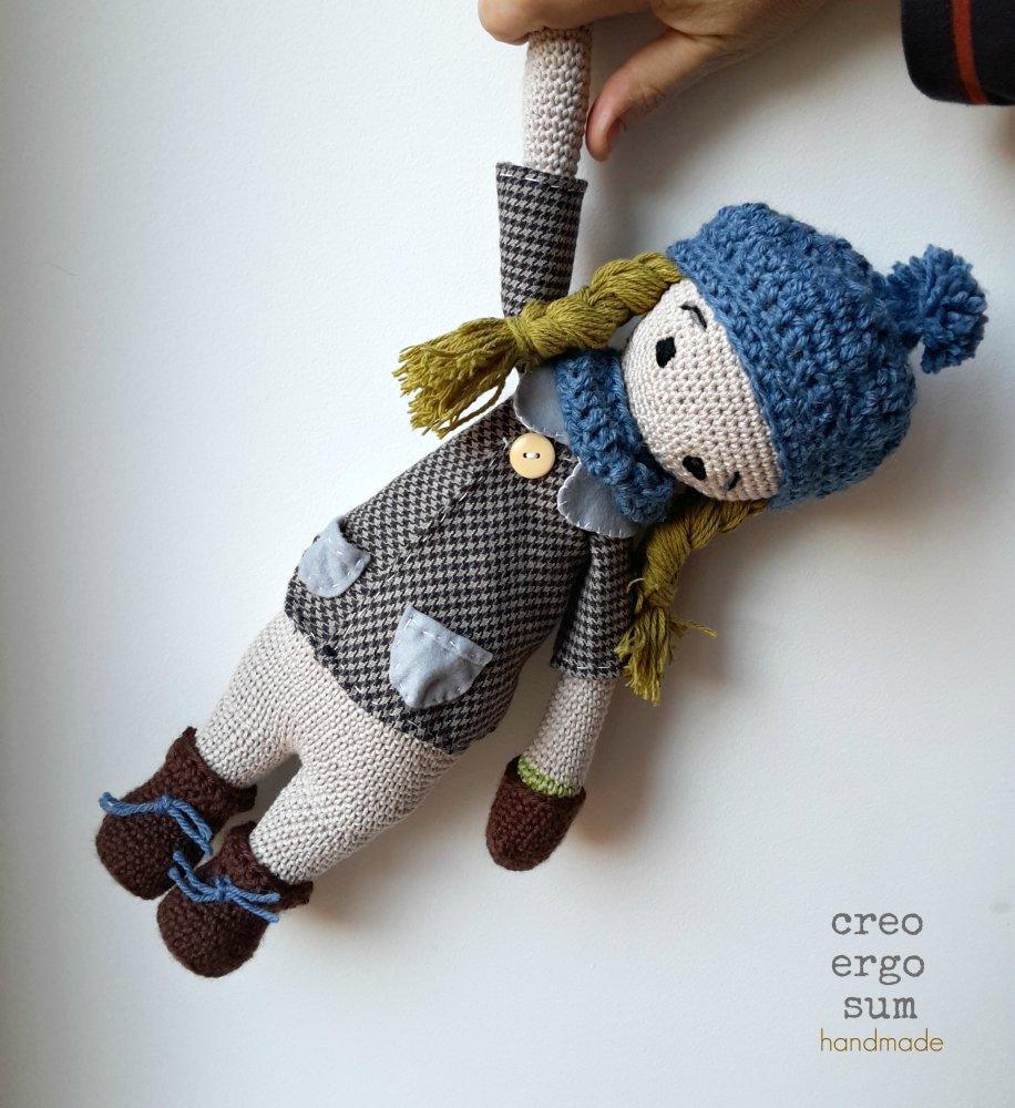 Bambola Amigurumi, Bambola all' Uncinetto, Pupazzo Amigurumi, Bambola Stile Antico