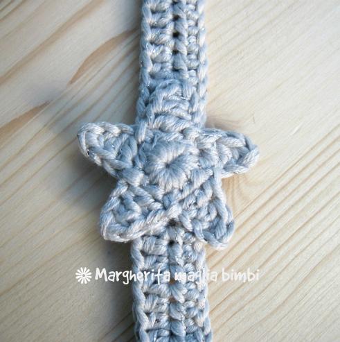 Portaciuccio stella argento, neonato/bambino, idea regalo, cotone, uncinetto, fatto a mano