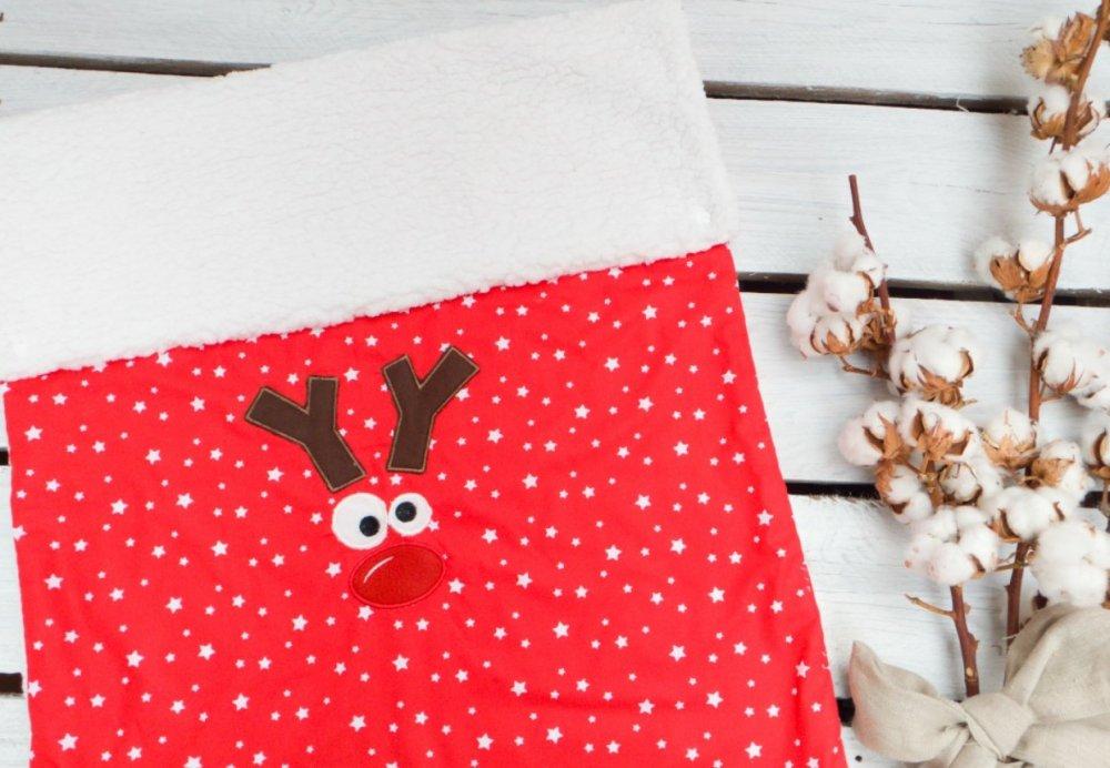 Copertina natalizia renna